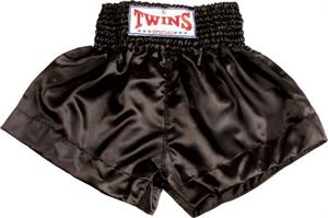 Twins Thai Style Trunks Solid Black